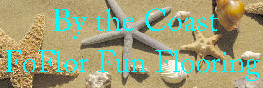Header image with beach background for the fun flooring foflor mats offered by Everything Doormats.