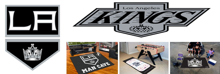 Los Angeles Kings header image created by everything doormats featuring images products offered on our website, the teams' logo and name.