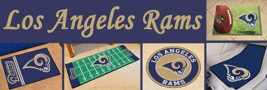 Los Angeles Rams header image for Sports Licensing Solutions products, image made by everything doormats.