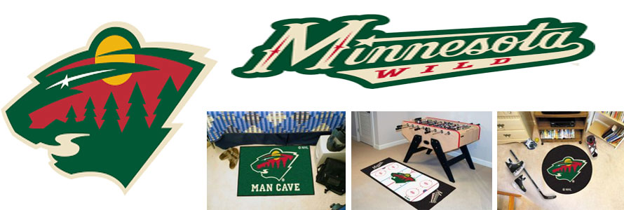Minnesota Wild header image created by everything doormats featuring images products offered on our website, the teams' logo and name.