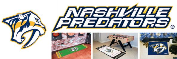 Nashville Predators header image created by everything doormats featuring images products offered on our website, the teams' logo and name.