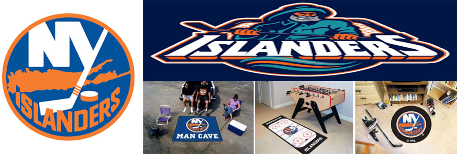 New York Islanders header image created by everything doormats featuring images products offered on our website, the teams' logo and name.