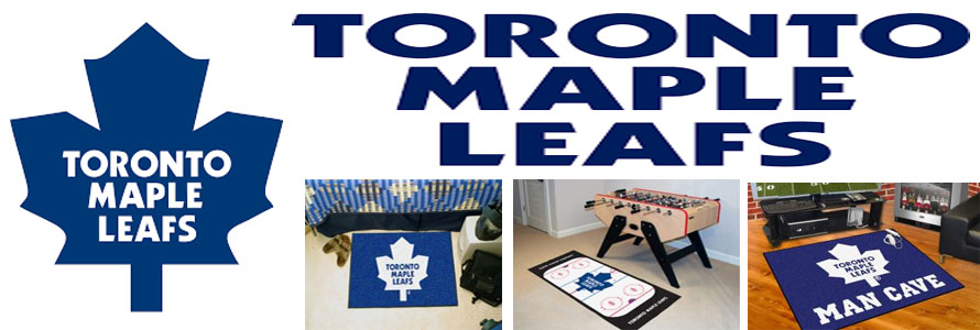 Toronto Maple Leafs header image created by everything doormats featuring images products offered on our website, the teams' logo and name.