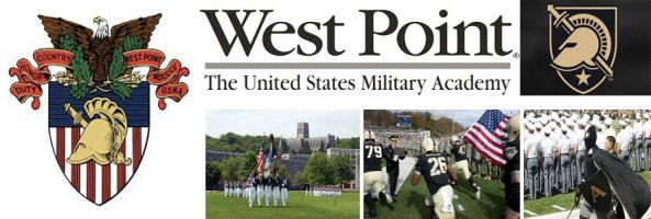 United State Military Academy at West Point school crest, sports logo, campus grounds, football and mascot in an image by Everything Doormats.