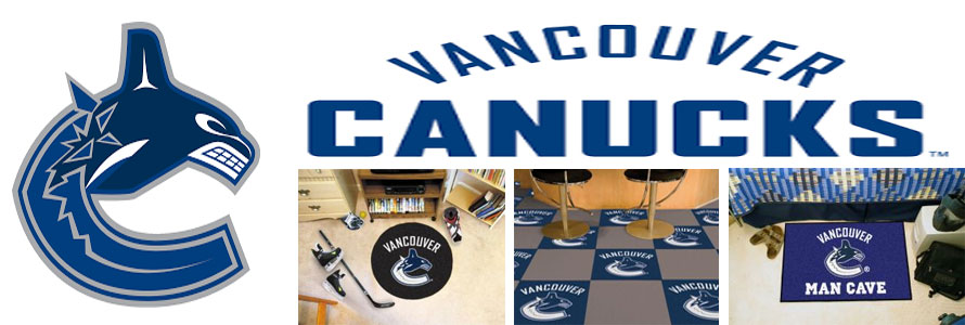 Vancouver Canucks header image created by everything doormats featuring images products offered on our website, the teams' logo and name.