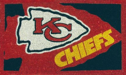 NFL Football Kansas City Chiefs Coir Coco Welcome Mat - Doormat