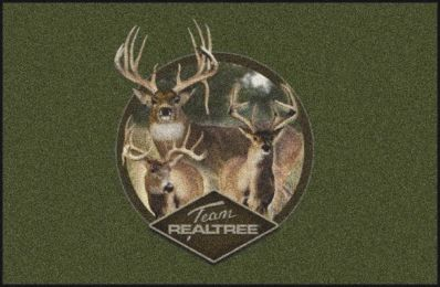 Realtree Deer Camouflage Nylon Area Rug