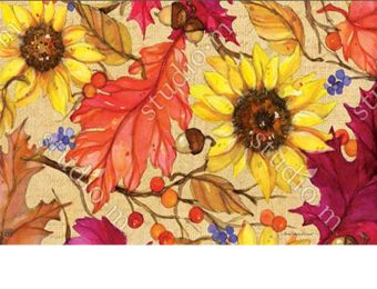 Indoor & Outdoor Sunflower Splendor MatMate Doormat-18x30