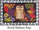 Indoor & Outdoor Floral Owl MatMate Doormat-18x30