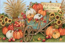 Indoor & Outdoor Pumpkin Wagon MatMate Doormat-18x30