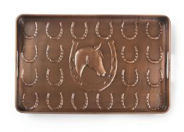 Multi Purpose Embossed Horseshoe Boot Tray - 22 x 14 x 2