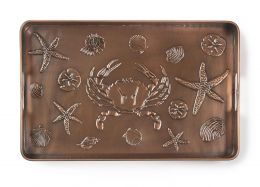 Multi Purpose Embossed Seashore Boot Tray - 22 x 14 x 2