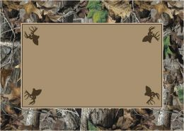 Timber Realtree Bordered Tree & Leaves Camouflage Nylon Area Rug