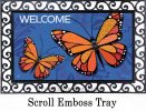 Indoor & Outdoor Monarch Butterlfy MatMate Doormat-18x30