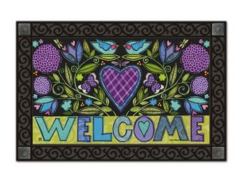 Heartfelt Welcome Spring & Valentine's Day MatMate Doormat