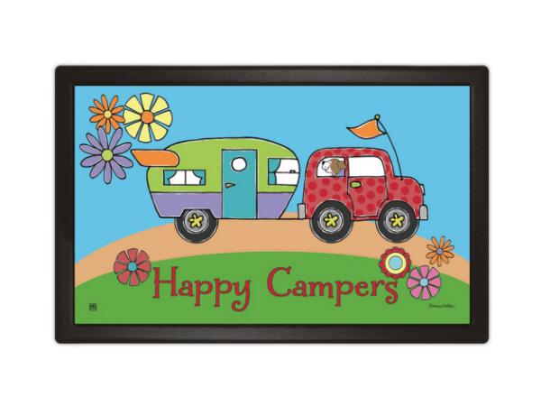 Indoor Amp Outdoor Matmates Welcome Mat Happy Camper
