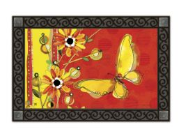 Yellow Butterfly Spring Seasonal Non-Slip MatMates Floor Mat