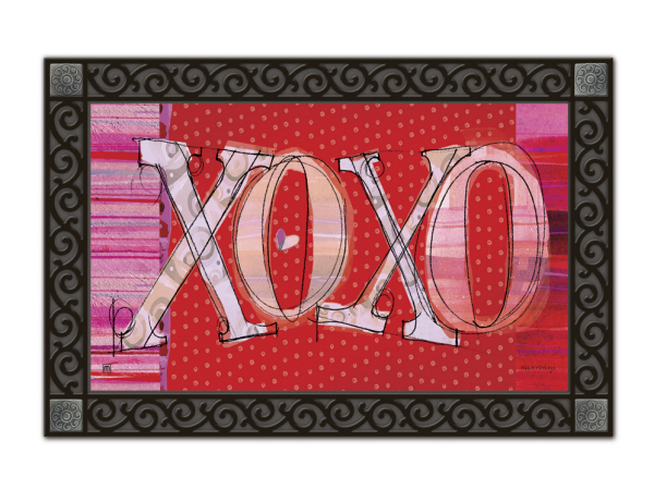 Valentine S Day Xoxo Holiday Rubber Back Matmates Doormat