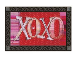 Valentine's Day XOXO Holiday Rubber Back MatMates Doormat