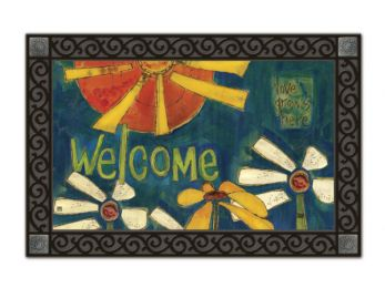 Sunny Welcome Summer Seasonal decorative MatMates Floor Mat