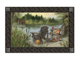 Fun Indoor - Outdoor Lakeside MatMates Doormat