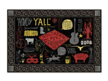 Fun Indoor - Outdoor Southern Pride MatMates Doormat