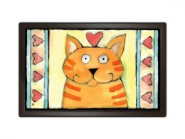 Non-slip Tiger Kitty Animal Cat Doormat & Pet MatMates Welcome Mat