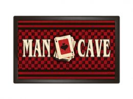 Indoor & Outdoor MatMates Sayings Doormat - Man Cave