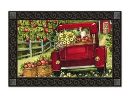 Indoor & Outdoor MatMates Doormat - Red Truck & Dog