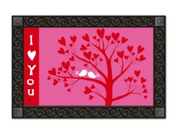 Valentine's Day I Love You MatMates Holiday Welcome Doormat
