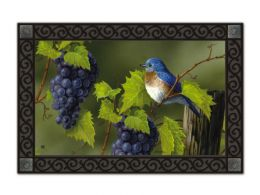 Vineyard Bluebird Animal Indoor or Outdoor MatMates Floor Mat