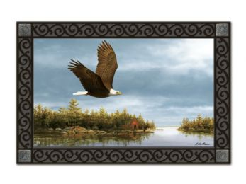 Wildlife Eagle Flying MatMates Recycled Rubber Floor Mat