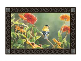 Summer Finch MatMates - decorative Animal Stain Resistant Doormat
