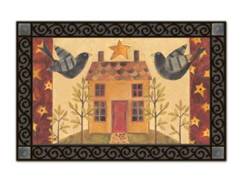 Yard Birds Seasonal Animal Non-slip MatMates Doormat - Kitchen Mat