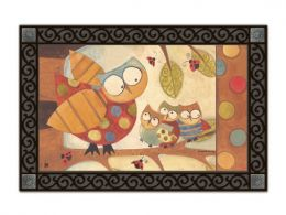 Whooo Did it? Owl Seasonal Fall MatMates Welcome Doormat