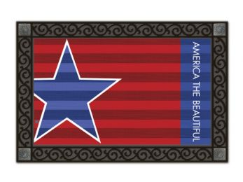 Patriot Summer Holiday & Seasonal MatMates Non-Slip Doormat