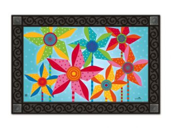 Pinwheels Summer Fun decorative MatMates Floor Mat - Doormat
