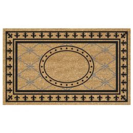 SuperScraper Vinyl Coco Coir Doormat - Welcome Mat