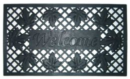 Lattice & Leaves Wrought Iron Rubber Doormat