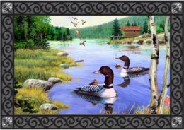 Loon Lake Summer Non-Slip Seasonal decorative Floor Mat