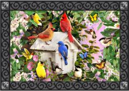 Songbird Suite Spring Seasonal Non-Slip decorative Floor Mat
