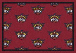 Phoenix Suns NBA Repeating Logo Nylon Area Rug