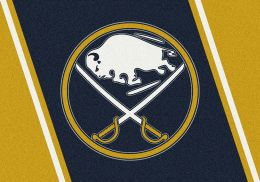Buffalo Sabres Spirit Area Rug - NHL Hockey Logo