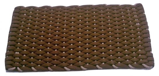 Brown Flat Rope Rockport Hand Woven USA Made Tan Insert Doormat
