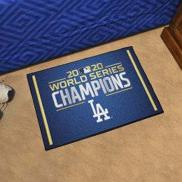 "LA Dodgers 2020 World Series Champs Starter Doormat - 19"" x 30"""