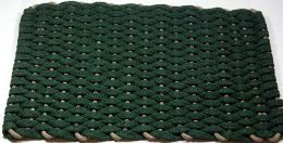 Forest Green with Tan Insert Rockport Hand Made Rope Doormat