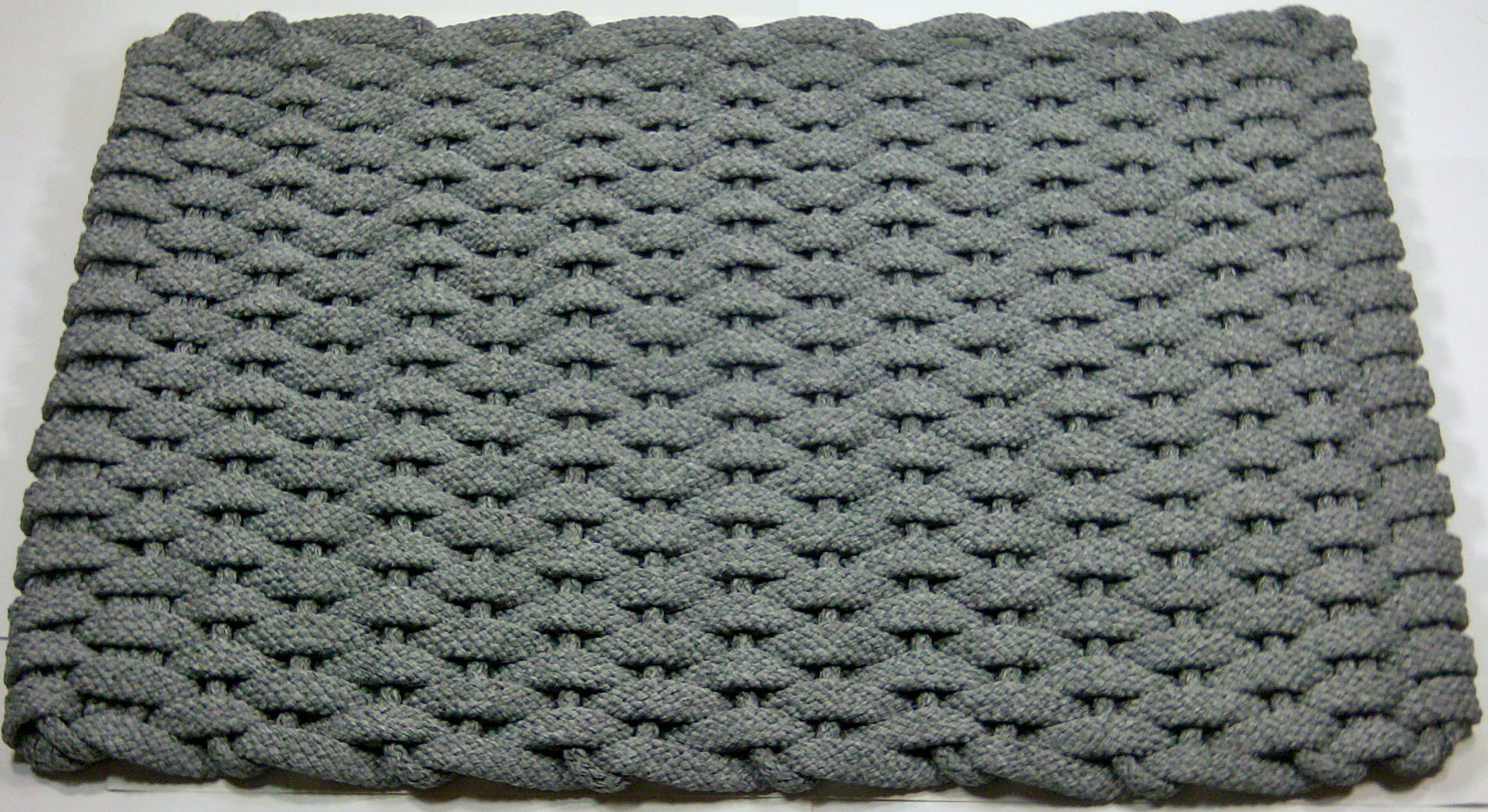 Rockport Rope Gray Hand Woven Usa Made Kitchen Floor Mat