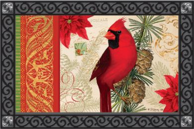 Indoor & Outdoor Welcome Doormat - Regal Cardinal