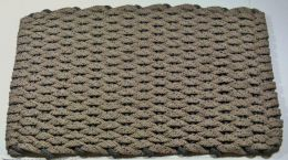 Brown Spotted Tan Rockport flat Rope Hand Crafted Kitchen Floor Mat