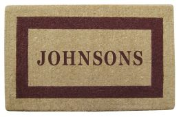 Personalized Brown Picture Frame Coco Coir Doormat - Welcome Mat